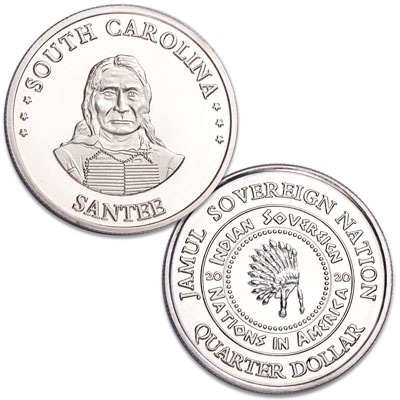 Image for 2020 Santee Native American Quarter from Littleton Coin Company