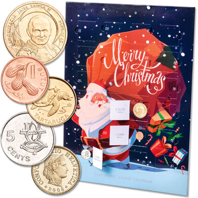 Image for World Coins - Santa Advent Calendar from Littleton Coin Company