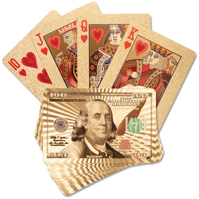 Image for Golden Playing Cards from Littleton Coin Company