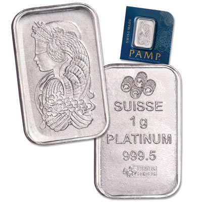 Image for PAMP Suisse 1g Platinum Bar from Littleton Coin Company