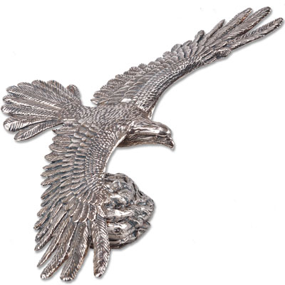 Image for 8 oz. Sterling Silver Soaring Eagle Statue from Littleton Coin Company
