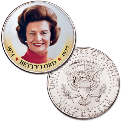 Image for Colorized First Spouses of America Half Dollar - Betty Ford from Littleton Coin Company