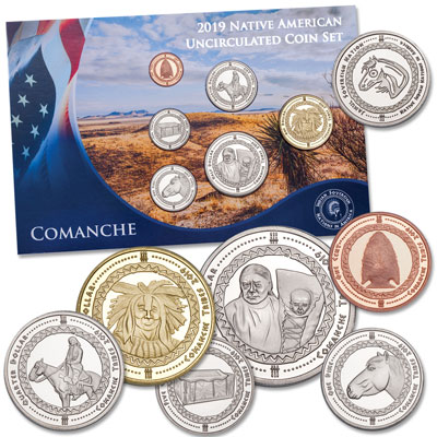 Image for 2019 Jamul Indian Coin Set - Comanche from Littleton Coin Company
