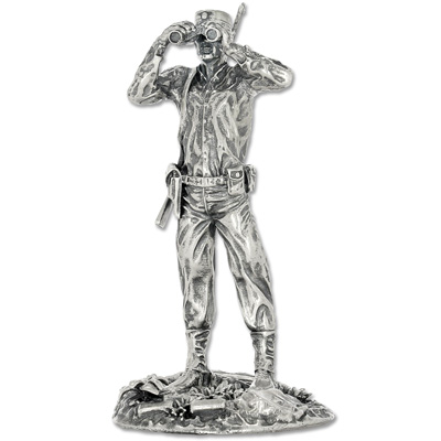 Image for 4 oz. Sterling Silver Captain Troy Statue from Littleton Coin Company