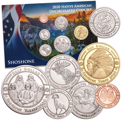 Image for 2020 Jamul Indian Coin Set - Shoshone Nation from Littleton Coin Company