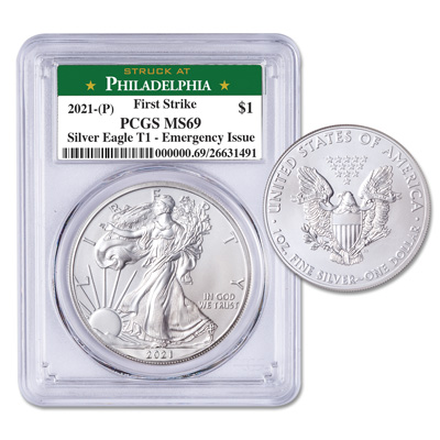 Image for 2021 $1 Silver American Eagle - Emergency Issue from Littleton Coin Company