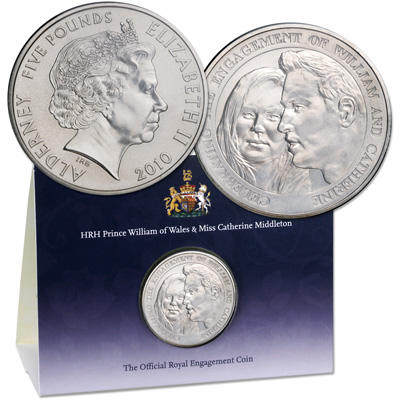 Image for 2010 Alderney £5 Royal Engagement Coin from Littleton Coin Company