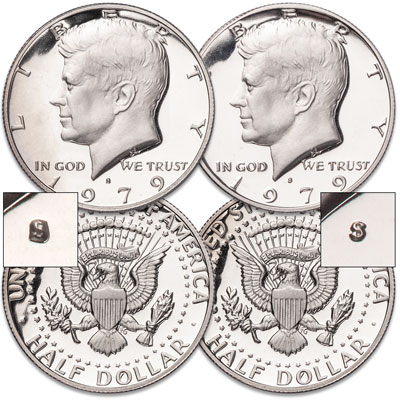 Image for 1979-S Clear and Filled Kennedy Half Dollar Set from Littleton Coin Company