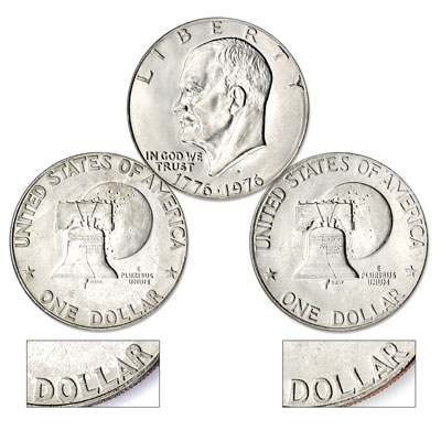 Image for 1976-D Eisenhower Dollar 2-Coin Set (Type I and Type II), Clad, Uncirculated from Littleton Coin Company