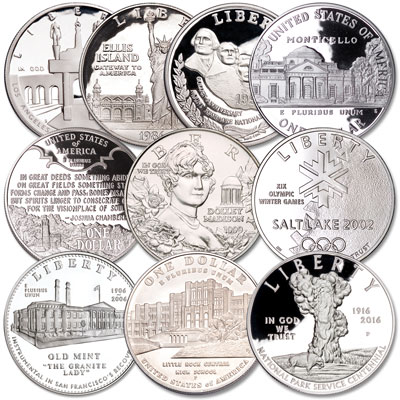 Image for U.S. Landmark and Historic Site Commemorative Silver Dollar Set from Littleton Coin Company