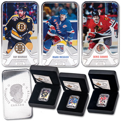 Image for 2019 Canada Silver $25 NHL Original Six Series - Bruins, Rangers & Blackhawks from Littleton Coin Company