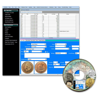 Image for Coin Collectors Assistant Plus Software from Littleton Coin Company