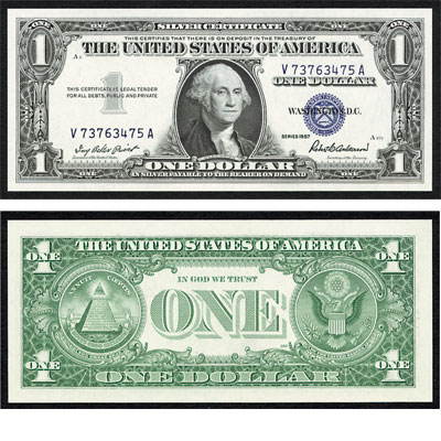 Image for 1957 $1 Silver Certificate from Littleton Coin Company