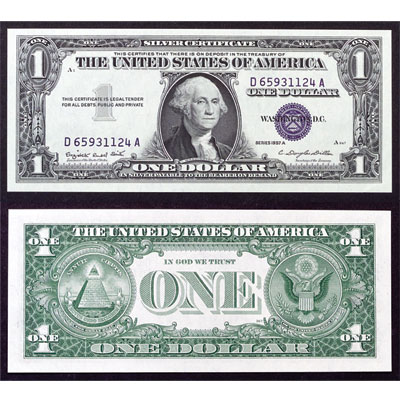 Image for 1957A $1 Silver Certificate from Littleton Coin Company