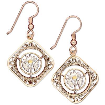 Image for Orange Blossom Cut Coin Earrings from Littleton Coin Company