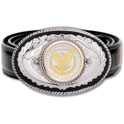 Image for Genuine Morgan Dollar Belt Buckle from Littleton Coin Company