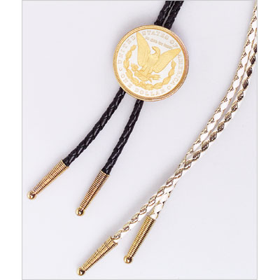 Image for Electroplated Morgan Dollar Bolo Necktie from Littleton Coin Company