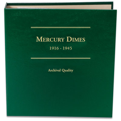 Image for 1916-1945 Mercury Dime Album from Littleton Coin Company