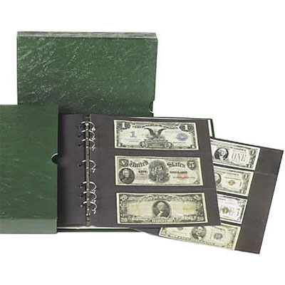 Image for Paper Money Album with Slipcase & Note Pages from Littleton Coin Company