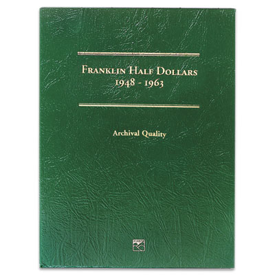 Image for 1948-1963 Franklin Half Dollars Folder from Littleton Coin Company