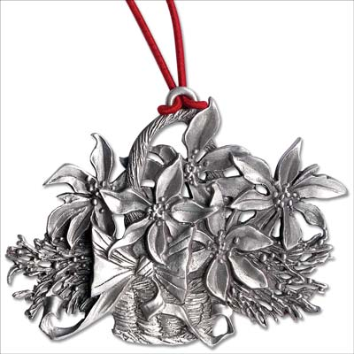 Image for Poinsettias Pewter Ornament from Littleton Coin Company