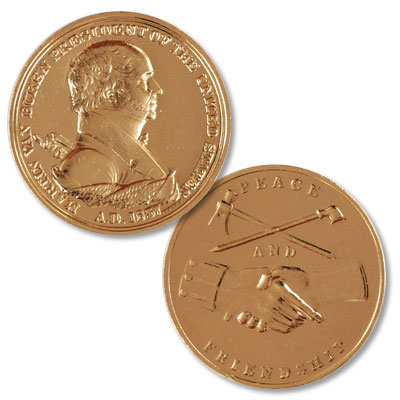 Image for Gold-Plated Martin Van Buren Medal from Littleton Coin Company