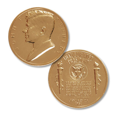 Image for Gold-Plated John F. Kennedy Medal from Littleton Coin Company
