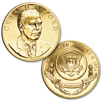 Image for Gold-Plated Gerald R. Ford Medal from Littleton Coin Company