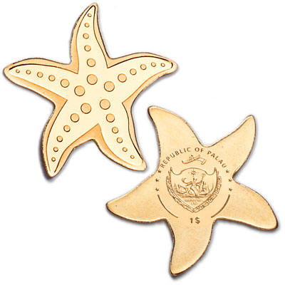 Image for Palau 1/2 gram Gold $1 Starfish from Littleton Coin Company
