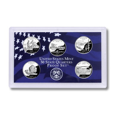 Image for 2005-S U.S. Mint Statehood Quarters Clad Proof Set from Littleton Coin Company