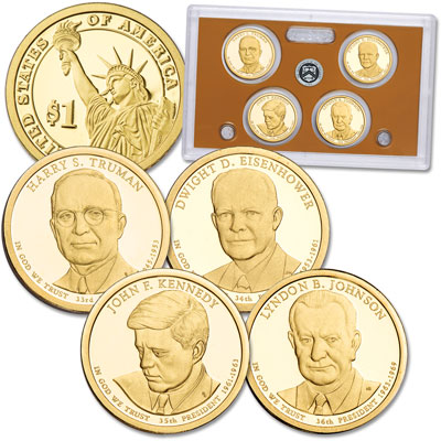 Image for 2015-S U.S. Mint Presidential Dollar Proof Set from Littleton Coin Company