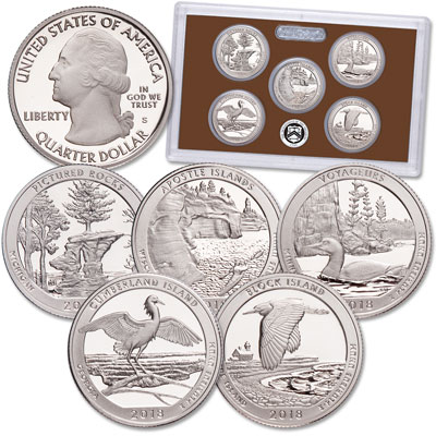 Image for 2018-S America's National Park Quarters Clad Proof Set from Littleton Coin Company