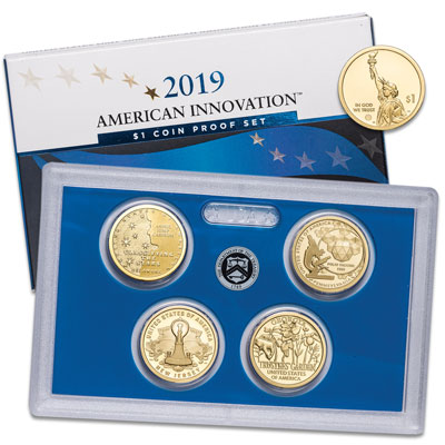 Image for 2019-S U.S. Mint American Innovation Dollar Proof Set from Littleton Coin Company
