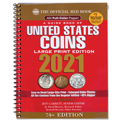 Image for 2021 Red Book - Guide Book of U.S. Coins (Large Print Softcover) from Littleton Coin Company