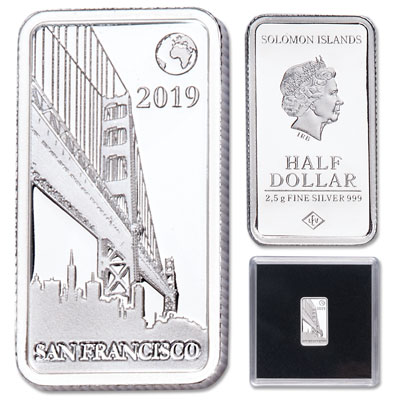 Image for 2019 Solomon Islands Silver 50 Cents Famous Landmarks - San Francisco from Littleton Coin Company