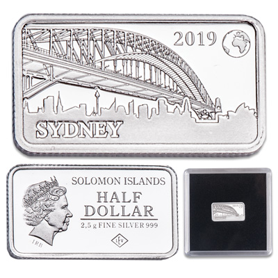 Image for 2019 Solomon Islands Silver 50 Cents Famous Landmarks - Sydney, Australia from Littleton Coin Company