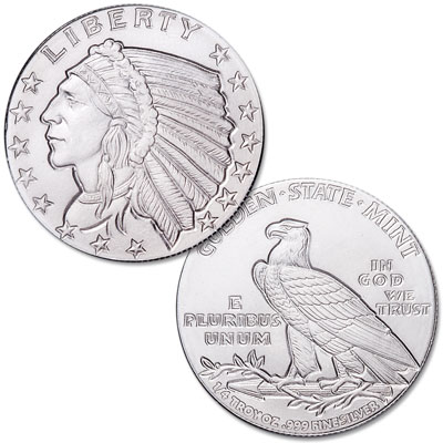 Image for Indian Head Silver Round from Littleton Coin Company