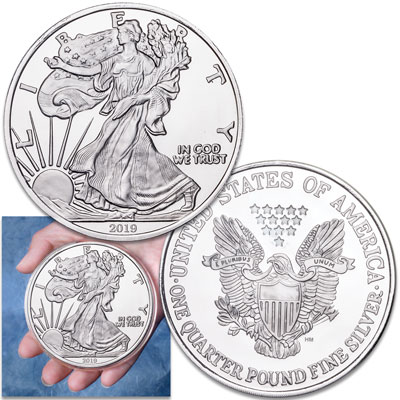 Image for 2019 4 oz. Silver American Eagle Replica from Littleton Coin Company
