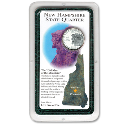 Image for 2000 New Hampshire Statehood Quarter Showpak® from Littleton Coin Company