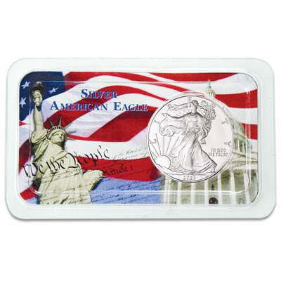 Image for 2021 Silver American Eagle in Freedom Showpak from Littleton Coin Company