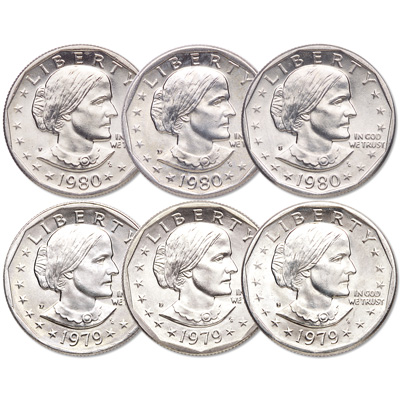 Image for 1979-1980 All-Mint Susan B. Anthony Dollar Set from Littleton Coin Company