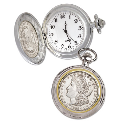 Image for Morgan Silver Dollar Pocket Watch from Littleton Coin Company