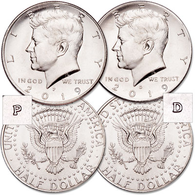 Image for 2019 P&D Kennedy Half Dollar Set from Littleton Coin Company