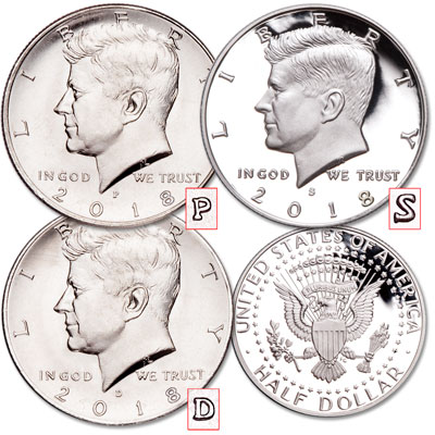 Image for 2018 PDS Kennedy Half Dollar Set from Littleton Coin Company
