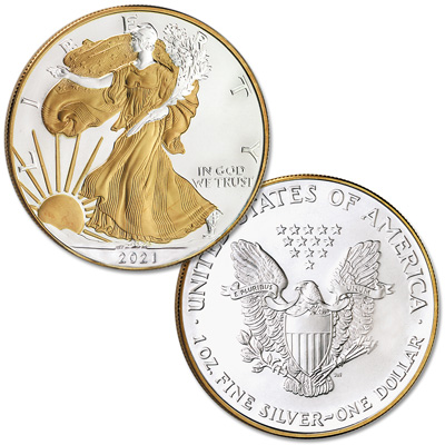 Image for 2021 Electroplated Silver American Eagle with Box from Littleton Coin Company