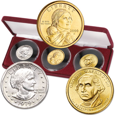 Image for 1979-2007 First Issues of all 3 Small-Size U.S. Dollars from Littleton Coin Company