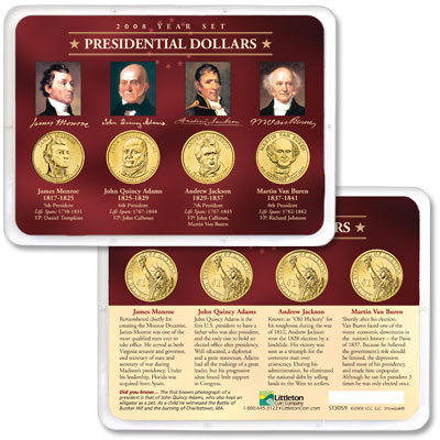 Image for 2008 Presidential Dollar Year Set in Showpak (4 coins) from Littleton Coin Company