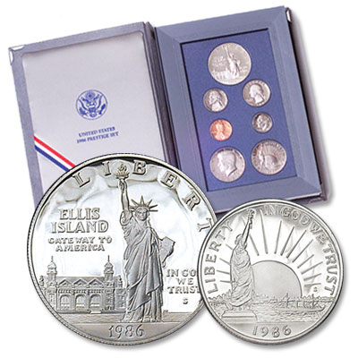 Image for 1986-S U.S. Mint Prestige Proof Set (7 coins), Choice Proof, PR63 from Littleton Coin Company