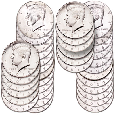 Image for 2002-2019 P&D Kennedy Half Dollar Set from Littleton Coin Company