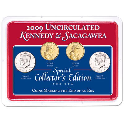 Image for 2009 P&D Kennedy Half Dollar & Sacagawea Dollar Set in Showpak from Littleton Coin Company